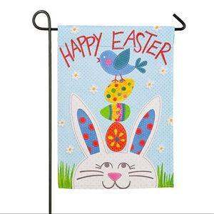 Happy Easter Bunny Garden Flag 12.5 x 18 inch NEW